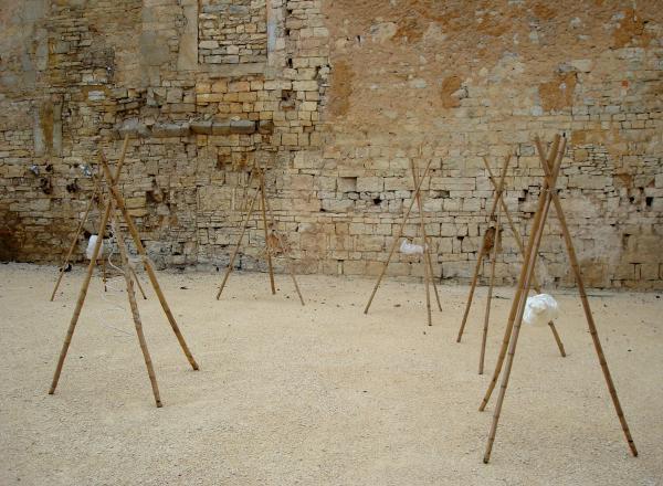 Landart Installation de Reinharda Drijfhamer et Mariska Zevenbergen - Salviac - 2010