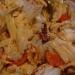 Salade chou chinois, tomates et noix