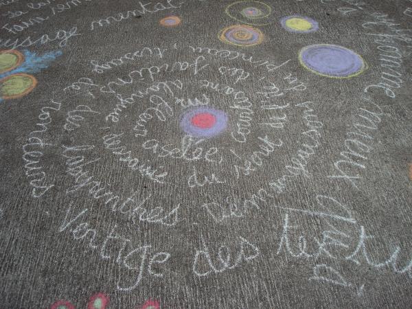 Textes de Cathy Garcia mis en sol par Valéry Jamin - Soirée Poésie Nouveaux Délits - Théâtre de la Fourdonne -St Cirq-Lapopie, septembre 2009