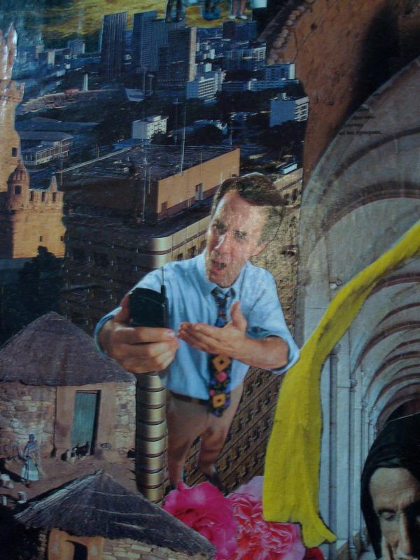Collage (détail) trouvé dans l'église d'Azay-le-Rideau - Novembre 2010