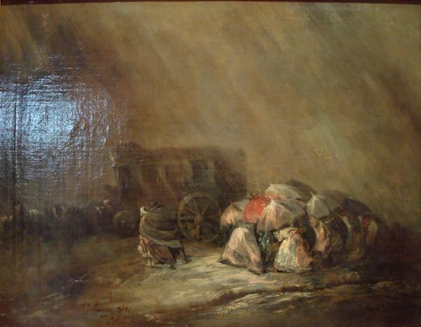 Musée Goya : Eugenio Lucas y Velázquez - La diligence sous l'orage (1859)