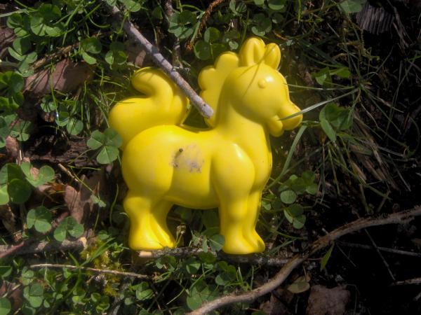 Petit cheval jaune