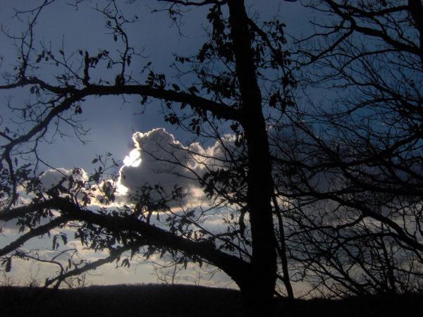 Crépuscule nuageux de février