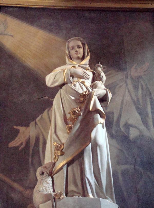 Dans l'église de Monestiés, Tarn