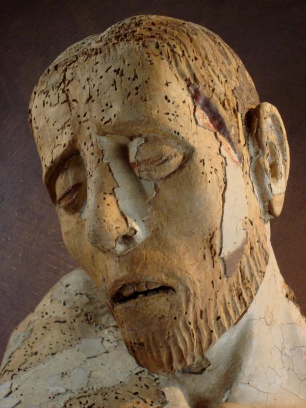 Christ de Bonnecombe - Bois polychrome du XVIe - Musée Fenaille, Rodez