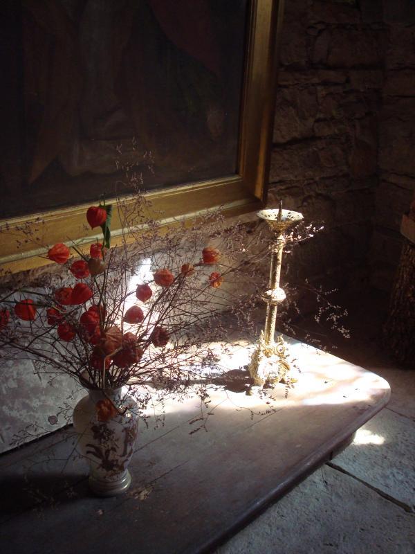 Dans l'église de Calvignac