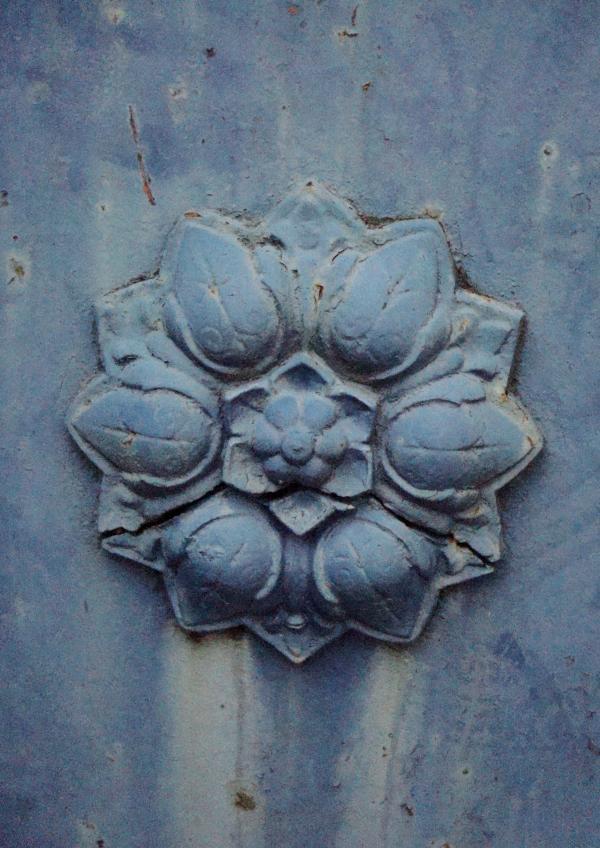 Côté fleur bleue métal