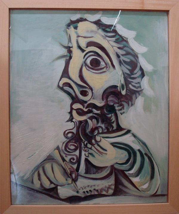 Musée Goya : Pablo Picasso - Buste d'homme écrivant 1971