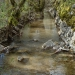 Ruisseau à suivre les pieds dans l'eau