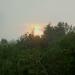 Orage et coucher de soleil