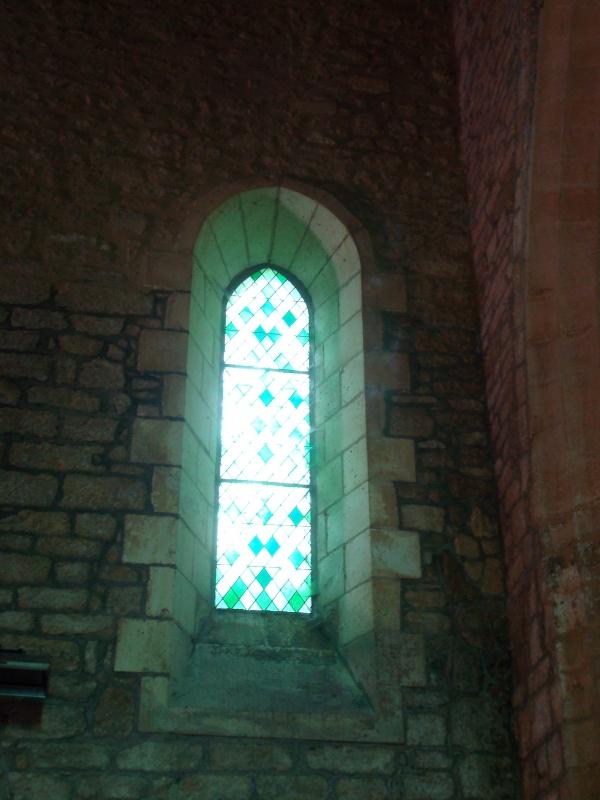 Dans l'église romane Sainte-Catherine de Carlux