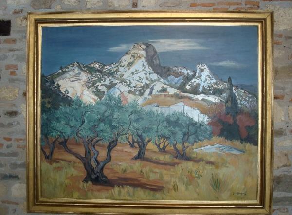 Yves Brayer - Les Alpilles à St Rémy de Provence - 1954 - Musée d'Art Moderne et Contemporain de Cordes
