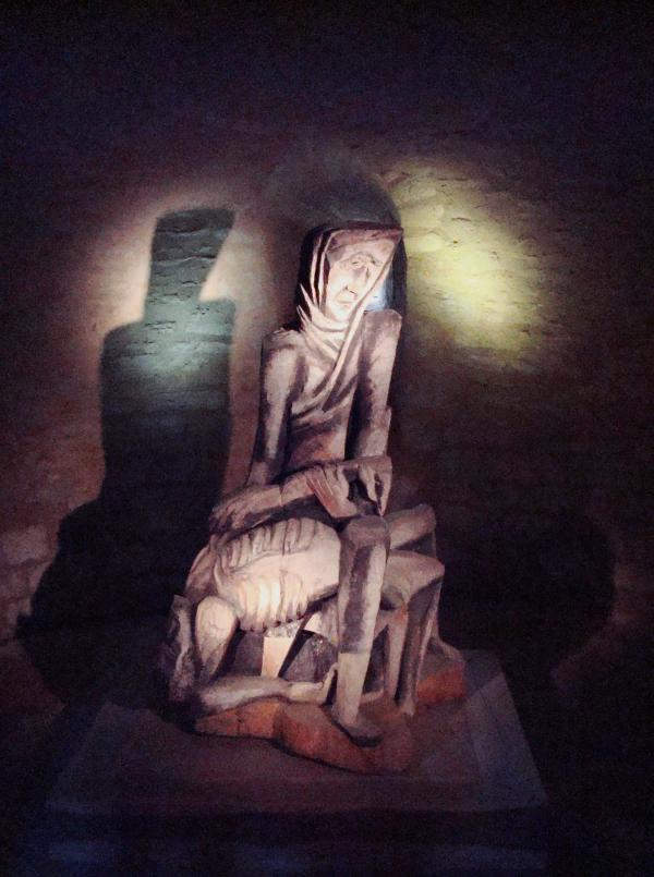 la Pietà de Zadkine - Eglise des Arques, Lot