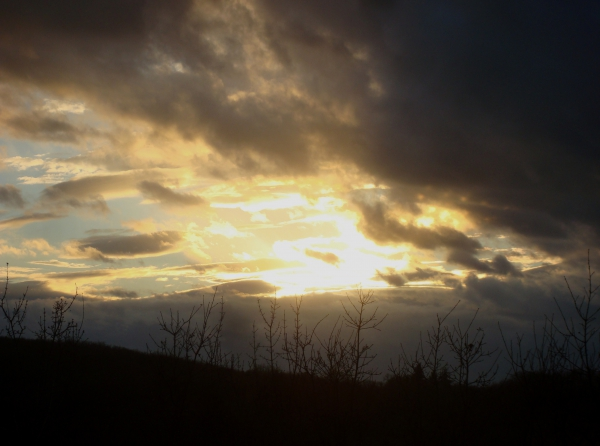 Ciel du 1er mars aux cris d'un nouveau passage des grues