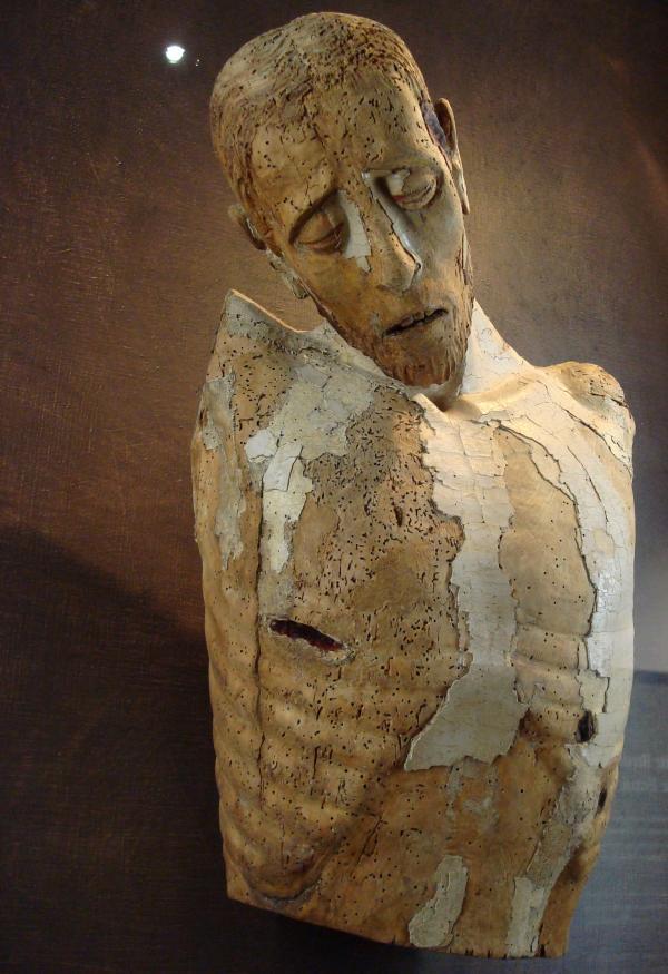 Christ de Bonnecombe - Bois polychrome du XVIe - Musée Fenaille Rodez