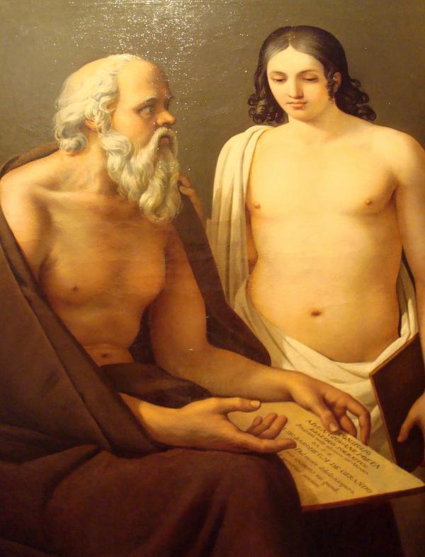 Musée Goya : José Aparicio - Socrate enseignant (1811 )
