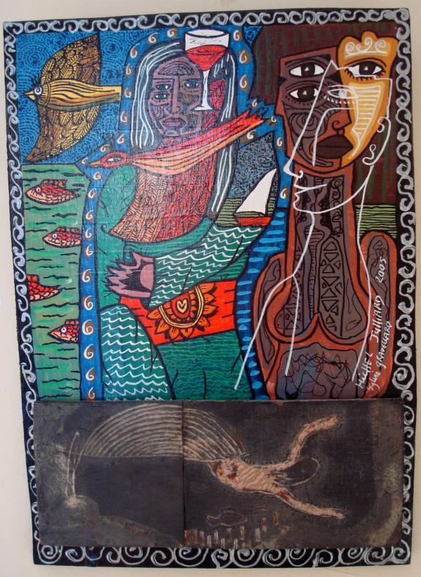 Michel Julliard et Sylvie Gravellard- Expo art singulier Saint-Simon (46) - 2009
