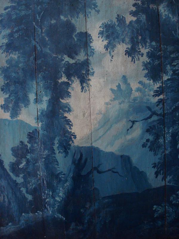 Jean-Marie-Joseph Ingres  - Un des nombreux panneaux de lambris peint - Eglise de Lauzerte - Tarn et Garonne