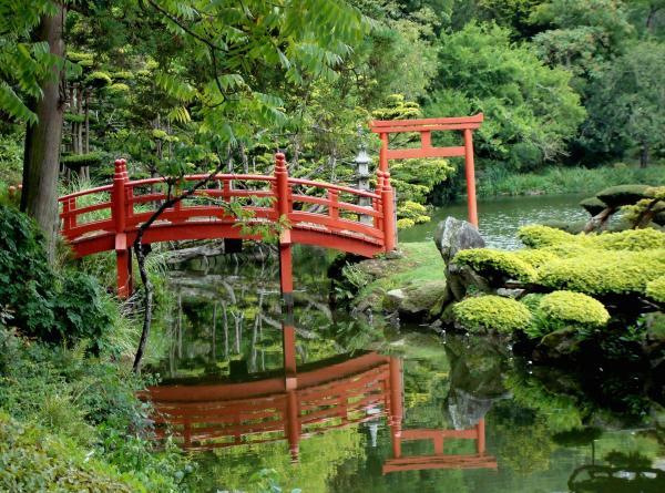 Pont japonais - Parc Oriental de Maulévrier