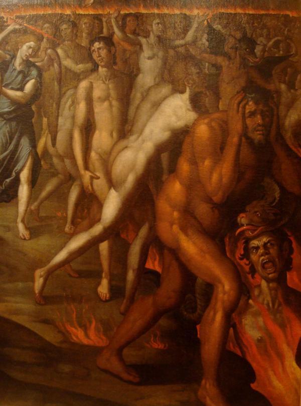 Musée Goya de Castres  : Francisco Pacheco - Détail du Jugement Dernier (1611-1614)