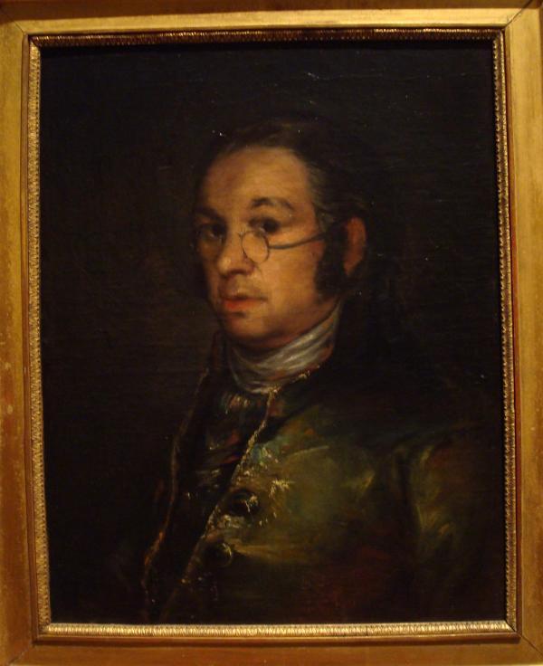 Musée Goya : Francisco de Goya y Lucientes - Autoportrait aux lunettes (vers 1800)