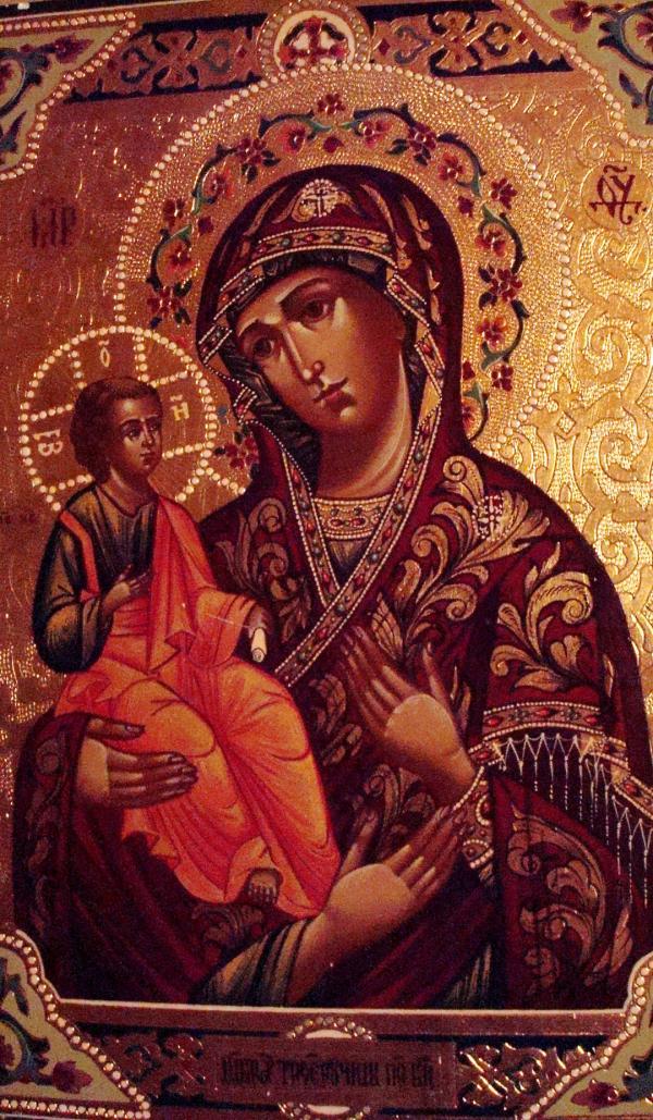 Icône de l'église russe orthodoxe de Sylvanès.