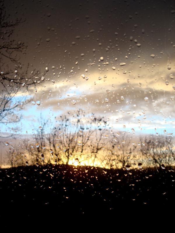 Le ciel en larmes