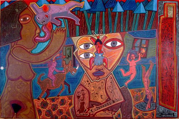 Michel Julliard - Expo art singulier Saint-Simon (46) - 2009